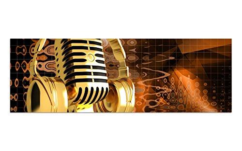 Preisvergleich Produktbild KD Dsign+ Glasbild BILD AG39000418 Motiv MUSIC BEAT GOLD Größe 90 x 30 cm inkl. Aufhängesystem (Haftbleche)