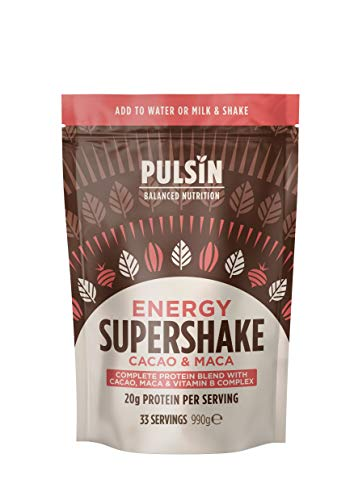Pulsin Cacao and Maca Energy Protein Supershake, 990g