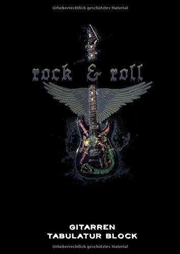 Gitarren Tabulatur Block: Heavy Metal Gitarren Tabs Buch für Musiker DIN A4 | 100 Seiten | Gitarren Notation | Rock & Roll | Pommesgabel