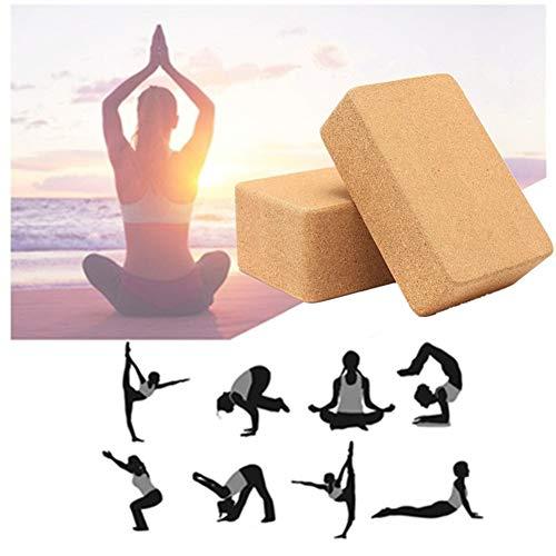 zhppac Yoga Block Bloque Yoga Corcho Yoga Conjunto Soporte para Yoga Bloque de Yoga Conjunto Pilates la Cabeza de De Espuma Bloques de Yoga 2pcs,-