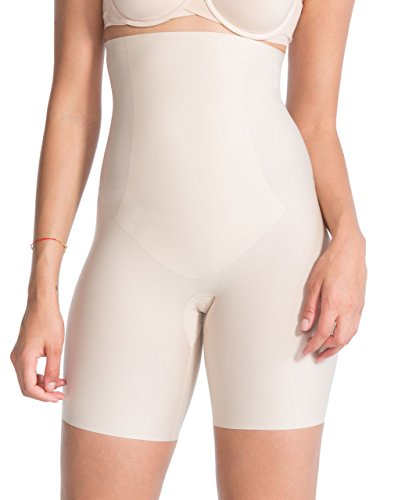 Spanx Thinstincts Targeted High-Waisted Short XS(34) - Soft Nude