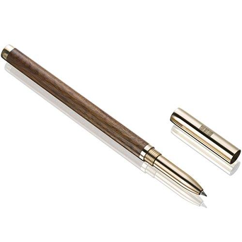 Bolígrafos de punta redonda, Premium hecha a mano de lujo elegante pluma en caja de regalo para hombres firma caligrafía Ejecutivo de negocios (marrón)