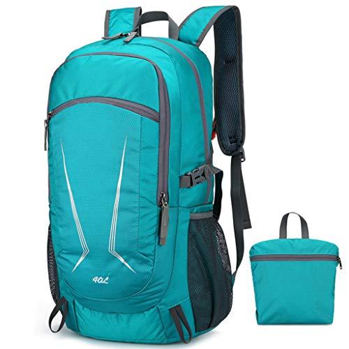 Mochila plegable ultraligera de 40 L para viajes, deportes al aire libre con, azul (lake blue) (Azul) - guangruiorrtysjb3TT903995-LB