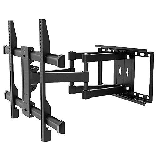 TV-Halterung, robuste TV-Halterung, 32-80'doppelarmige, neigbare und drehbare TV-Wandhalterung für LED-, LCD-, 3D-, Gebogene, Plasma- und Flachbildschirme - bis zu 600 mm x 400 mm