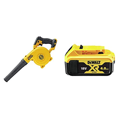 DEWALT DCV100-XJ 18 V Li-Ion XR Compact Cordless Blower - Bare Unit & 18V XR Lithium-Ion Battery