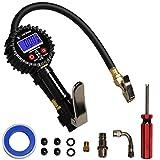 ENDARK Manómetro Digital, Manómetro Presión Neumáticos Digital, Pistola para inflado de neumáticos para Compresor Medidor para Coche, Moto Bicicleta y Camión 250psi