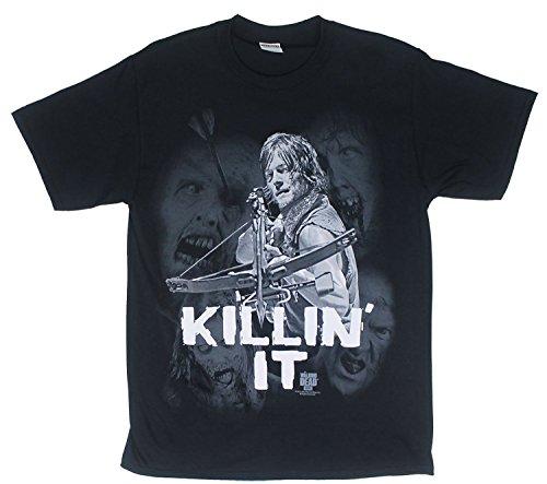 The Walking Dead Daryl Killin It Camiseta negra para hombre | S