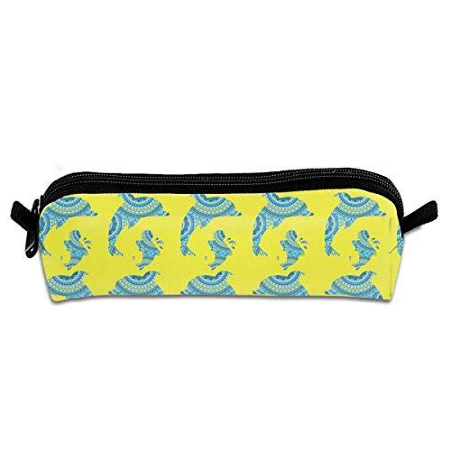 Niedliche Blume Delphin Leinwand kosmetische Stift Bleistift Briefpapier Tasche Tasche