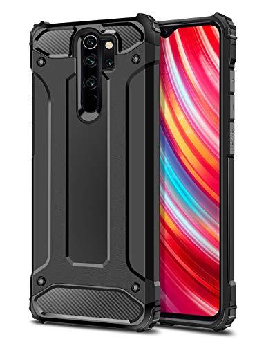 Coolden für Xiaomi Redmi Note 8 Pro Hülle, Premium [Armor Serie] Outdoor Stoßfest Handyhülle Redmi Note 8 Pro Schutzhülle Hülle Doppelschichter Tough Silikon TPU + PC Bumper Cover (Schwarz)