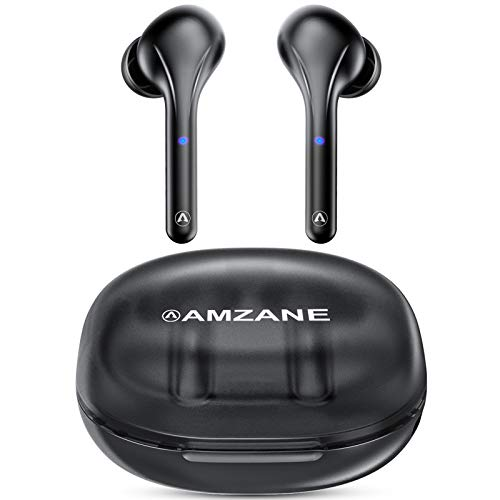Bluetooth Headphones, AMZANE V5.0 Deep Bass HiFi Stereo Sound Touch True Wireless Earbuds in Ear Bluetooth Earbuds with Built in Mic 30hrs Playtime with Charging Case Earphones for Sport Workout Gym