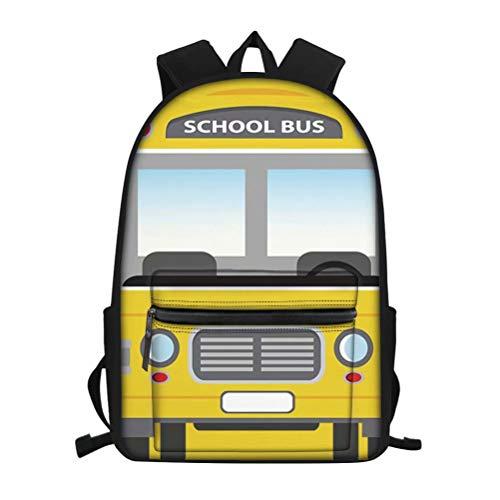 FOR U DESIGNS Children School Backpack School Bus Pattern Big Capacity Bookbag Kids Primary Rucksack