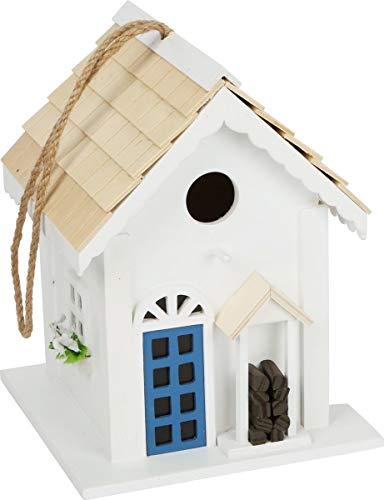 small foot 12049 Vogelhaus Landhausstil aus Holz zum Aufhängen, dekorativer Nistkasten für den Garten