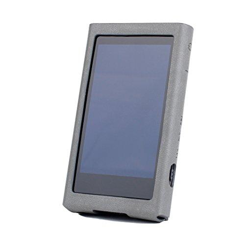 For Sony Walkman NW-A50 NW-A57 NW-A56HN NW-A55WI NW-A55HN NW-A55 NW-A40 NW-A47 NW-A45 NW-A46HN NW-A45HN 用 カバー プロテクター ハンドメイド品 [特許取得済み スタンド付きケース] For ソニーウォークマン Cover Sony A40 A50 Case (Gray グレー)