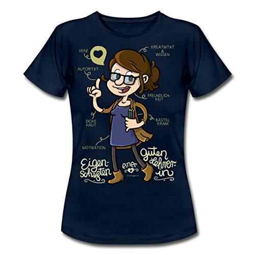 Eigenschaften Einer Guten Lehrerin Frauen T-Shirt, S, Navy