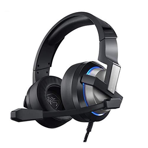 ZZL Casque de Jeu Câblé 7.1 Son Surround Virtuel USB pour PC, PS4, PS5, Cadmuffs Doux Xbox One (Color : Black)