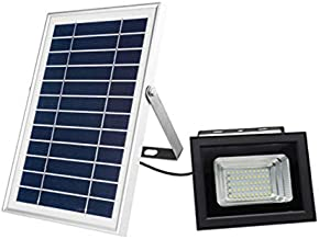 Monland RGB Solar LED Flood Lights, 50W Color Changing Outdoor Security Floodlight, IP65 Waterproof, Remote Control, Lands...