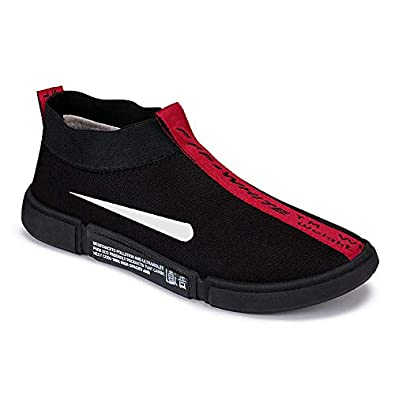 Camfoot Men's (9160) Black Casual Loafers Sports Running Shoes