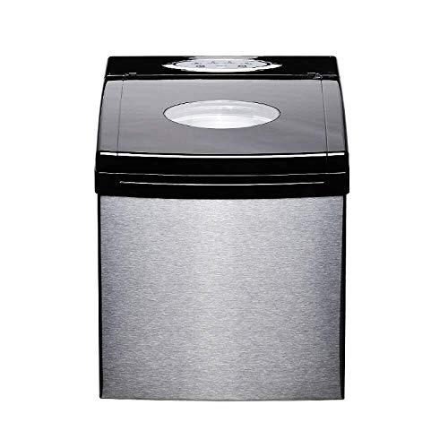 HLR IJsblokjesmachine, draagbaar, voor opzet- ijsblokjes, klaar voor gebruik, in 8 minuten elektrische ijsmachine met ijsschep, voor privégebruik, bar, keuken