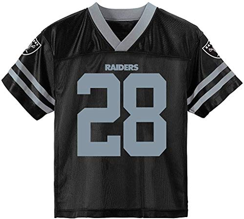 Josh Jacobs Las Vegas Raiders Black #28 Youth 8-20 Home Player Jersey (10-12)