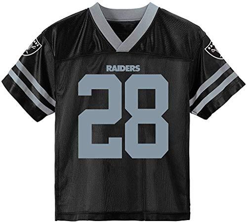 Josh Jacobs Las Vegas Raiders Black #28 Youth 8-20 Home Player Jersey (8)