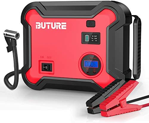 Car Jump Starter with Air Compressor BUTURE 2500A Peak 23800mAh 12V Auto Battery Booster up product image