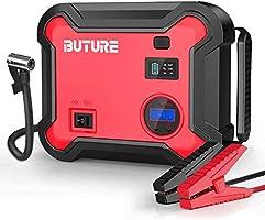 BuTure Booster Batterie et Compresseur d'air Portatif 2500A,23800mAh Démarreur de Voiture (Tout Gaz ou 8,0 L Diesel),...