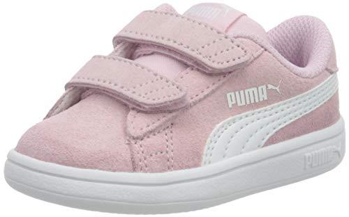 PUMA Unisex Baby Smash V2 Sd V Inf Sneaker, Pink Lady Puma White, 22 EU