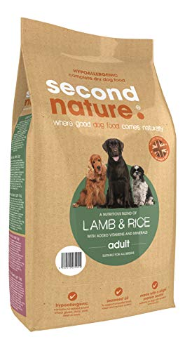 Second Nature Original Hypoallergenic Complete Dry Adult Lamb & Rice Dog Food With Added Vitamins And Minerals 12kg