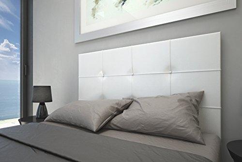 HOGAR24 Cabecero tapizado Versus 155x60. Blanco