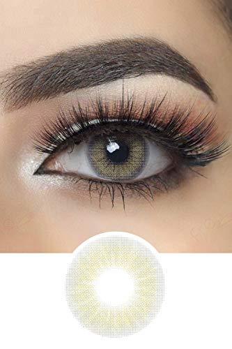 Farbige Hidrocor Kontaktlinsen Jahreslinse - 1 Paar (2 Stück) - DIA 14.20 (Quartz Gray)