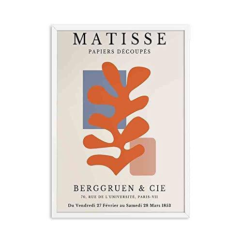 Carteles e impresiones Retro de moda de Henry Matisse línea de retrato abstracto arte de pared pintura familia sin marco lienzo pintura A2 30x40cm
