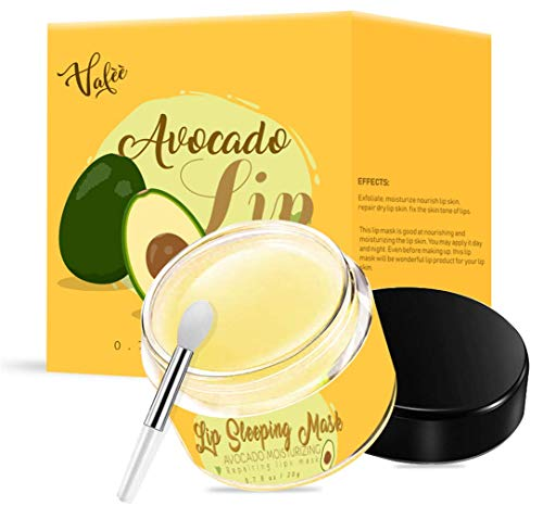 Lip Sleeping Mask, Avocado Lip Moisturizer, Nourishing and Improving Lip Skin Tone, Lip Skin Treatment Day and Night, Exfoliate,Repair Lip Dry Skin