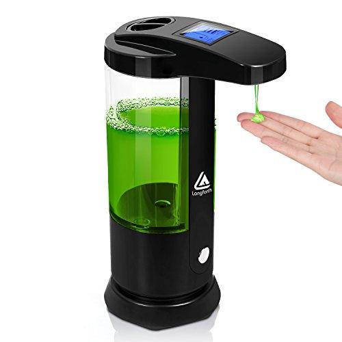 Lifewit Dispenser Erogatore Sapone Disinfettante Detersivo Automatico con Sensore Infrarosso e Display Retroilluminato LED 250ml Nero
