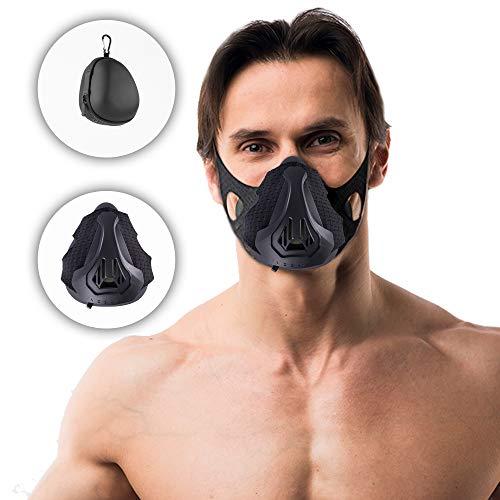 ScorpionX Workout Mask with adjustable Breathing Levels Training Mask High Altitude Simulation Fitness mask Running mask Cycling Gym Mask Men and Women Build Endurance and Stamina Black