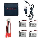Batería de repuesto para Syma X5C, X5SW, X5SC, X5A, X5, X5C-1, Cheerson CX-30W (4 unidades)