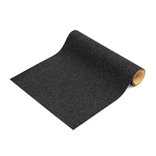 Grip Tape, 10  x 36  Heavy Duty Skateboard Grip Tape, Non Slip Safety Tape Sheet for Longboard, Steps, Scooter, Walls, Floors, Strong Cohesiveness Durable & Black