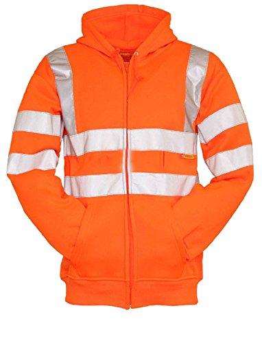 Fast Fashion - Une Grande Visibilité Hi Vis Des Sûreté D' Hooded Sweatshirt Haut