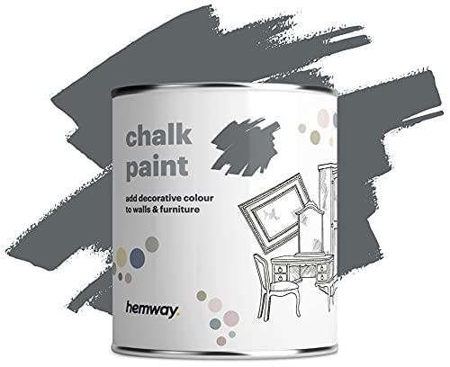 Hemway Old Stone Grey Chalk Vernice Matt finitura della parete e Mobili Paint 1L   35 oz Shabby Chic Vintage Chalky (50 + colori disponibili)
