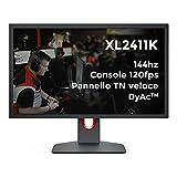BenQ ZOWIE Xl2411K Monitor da Gioco 24 Pollici 144Hz, 1080P, Ps5 e Xbox 120 Fps, Pannello Tn Veloce,...