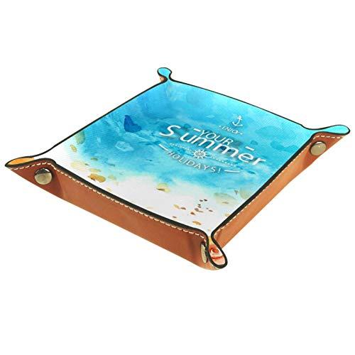 MUMIMI Bandeja de tocador para baño y cocina, organizador de cosméticos, diseño natural del mar