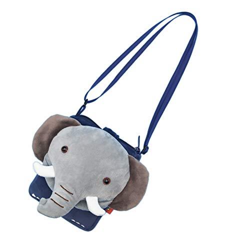 ZumZup Mini Umhängetasche für Kind Geldbörse Schlüsselbeutel Kindertasche Schultertasche als Geschenk Cartoon-Elefant