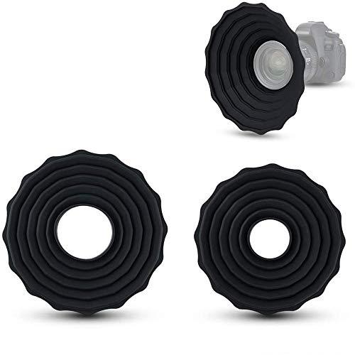 Parasol universal antirreflectante de silicona para lente de cámara, accesorios de fotografía (para lentes de rosca de filtro de 73 a 88 mm)