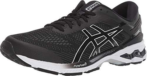 ASICS Men's Gel-Kayano 26 Running Shoes, 10M, Black/White