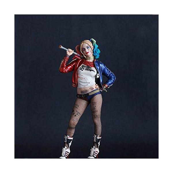 XFHJDM-WJ Estatuilla Escuadrón Suicida Harley Quinn Figura Modelo Juguetes Joker Figuras PVC Juguetes 12 Colección Anime… 2