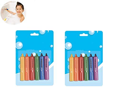 Big Bargain Store pour s'amuser dans Le Bain Crayons de Jouets pour Le Bain Convient aux Enfants de Plus de 3 Ans Crayons de Bain pour bébé Crayons de Bain Jouets de Bain Jouets de Bain Non Toxiques