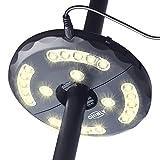 CHINLY LED Schirmleuchte Wiederaufladbare 28 LEDs 3 Level Dimming-Modi