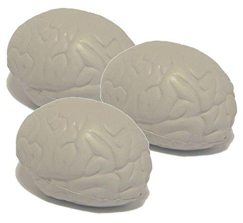 Stressballs 3 x Gehirn - Antistressball , Stressballs – Kleiner Ball, Grosse Stresserleichterung