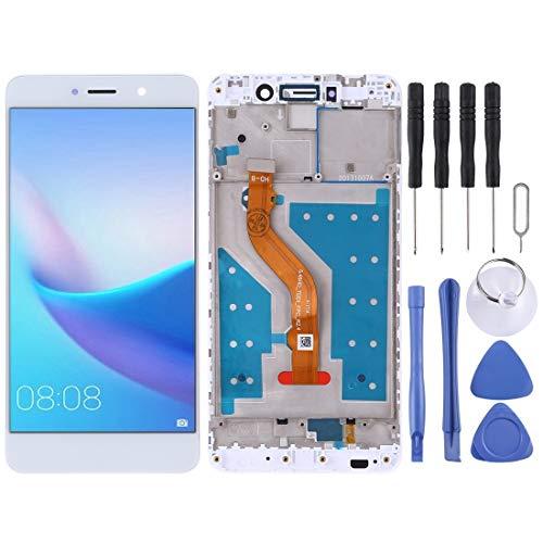 H-HX Display Reparaturset, LCD-Bildschirm und Digitizer Vollversammlung mit Rahmen for Huawei Y7 (2017) (Color : White)