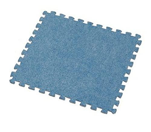 【9枚セット】アイリスオーヤマ ジョイントマット タイルカーペット ブルー 幅320×奥行320×高さ6mm カーペットタイプ JTM-32(CPT)