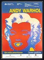 ポスター アンディ ウォーホル Un Mito Americano 額装品 ウッドハイグレードフレーム(ネイビー)